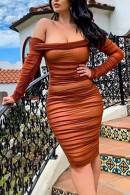 Sexy Off-the-shoulder Bodycon Dress