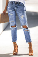 Sky Blue Ripped Jeans