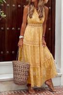 Sleeveless Chiffon Vacation Dress