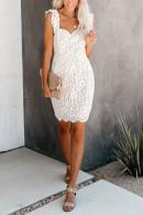 Sleeveless Lace Detail Dress