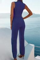 Sleeveless Lace Up Jumpsuit