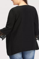 Solid  3/4  Sleeves  Loose  Cardigan