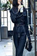Solid Belted Denim Jumpsuit
