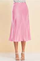 Solid Color A-line Skirt