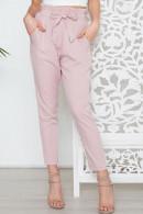Solid Front Tie Pants