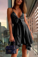 Solid Ruffled Cami Dress