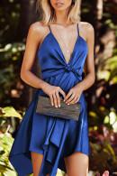 Solid Ruffled Cami Dress
