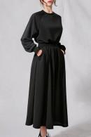 Solid Scoop Cotton Dress