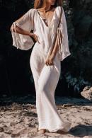 Solid V-Neck Maxi Dress