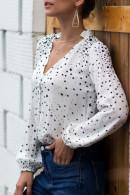 Star Print V-neck Shirt