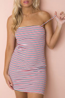 Striped Color-Block Dress