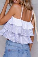Striped Cropped Cami Top