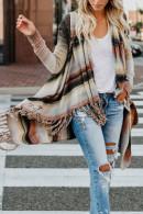Striped Tassel Kit Cardigan