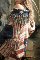 Striped Tassel Knit Cardigan
