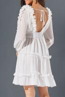 Sweet Backless Ruffled Dress