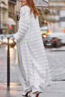 Tassel Lace-up Long Coat