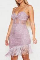 Tassel Lace Spaghetti Dress