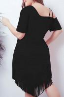 Tassel One-shoulder Dress