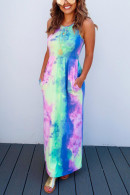 Tie Dye Pockets Dress