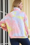 Tie Dye Stand-collar Sweatshirt