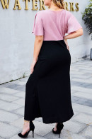 Two Tones Patched Dress