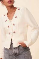 V-neck Embroidered Cardigan