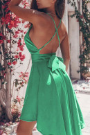 V-Neck Flounce Dress