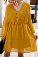 V-Neck Long Sleeves A-line Dress