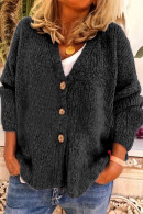 V-neck  Buttoned Knit Cardigan