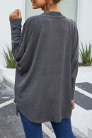 V-neck   Solid  Kit  Cardigan