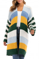 V-neck Striped Kit Cardigan
