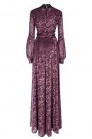 Vintage Lantern Sleeve Long Dress
