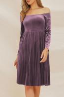 Vintage Velvet Pleated Dress