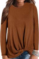 WaffleTwist Knot Sweater