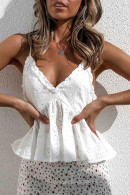 White Laser Cut Cami