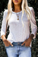 White Long Sleeves T-shirt