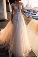 White V-neck See Through Dress