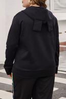 Zip Front Hooded Coat