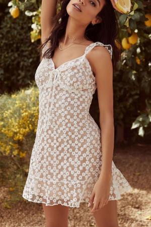 Sleeveless See Through Mini Dress