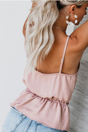 Solid Backless Cami Top