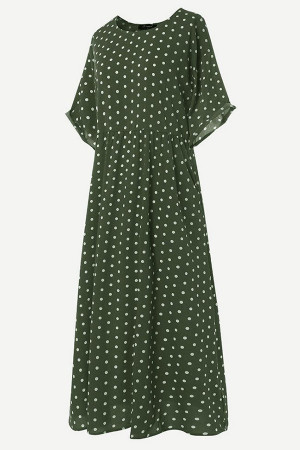 Polka Dot Scoop Tunic Dress
