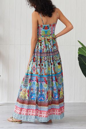 Print Spaghetti Straps Dress