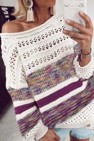 Printed Crew-neck Sweater