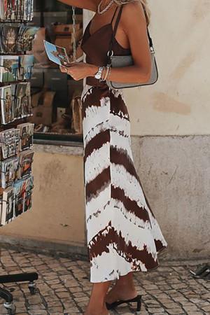Wave Striped Cami Dress