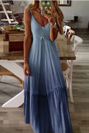 Loose V-Neck Cami Dress