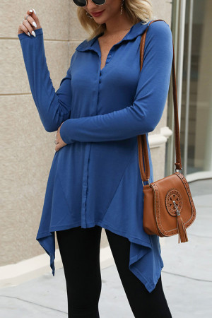 Single Breasted Asymmetrical Top