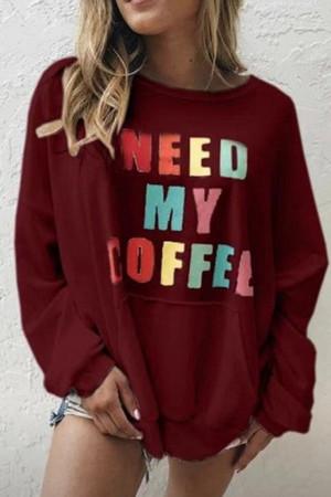 Casual Printed Monogram Sweatshirt