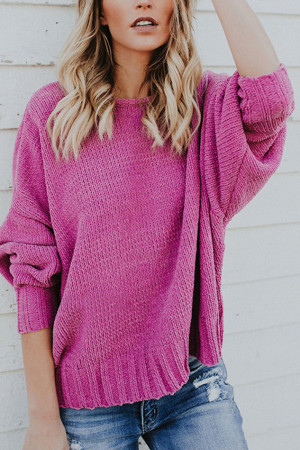 Cross Back Knit Sweater