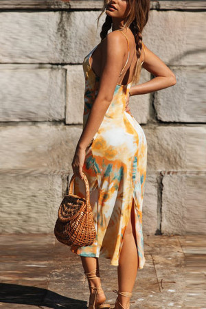 Back Split Cami Dress
