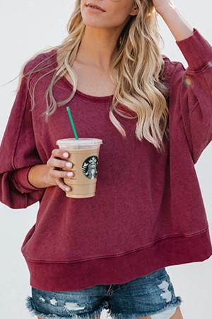 Backless Plus Size Sweatshirt